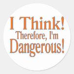 ¡Pienso! Etiquetas Redondas