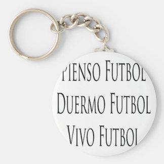 Pienso Futbol Duermo Futbol Vivo Futbol Llaveros Personalizados