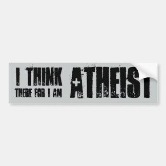 pienso, por lo tanto soy ateo, pegatina para el pegatina para auto