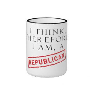 Pienso, por lo tanto soy un republicano tazas