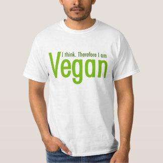 Pienso.  Por lo tanto soy vegano Playera