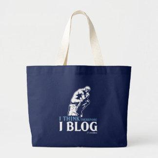 Pienso, por lo tanto yo blog bolsa tela grande