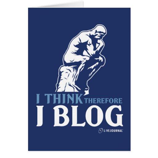 Pienso, por lo tanto yo blog felicitaciones