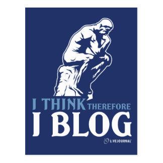 Pienso, por lo tanto yo blog tarjeta postal