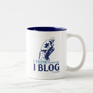 Pienso, por lo tanto yo blog taza dos tonos
