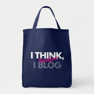 Pienso, por lo tanto yo bolso del blog bolsa tela para la compra