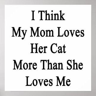 Pienso que mi mamá ama su gato más que ella ama M Impresiones