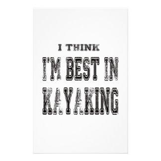 Pienso que soy el mejor de Kayaking Papeleria De Diseño