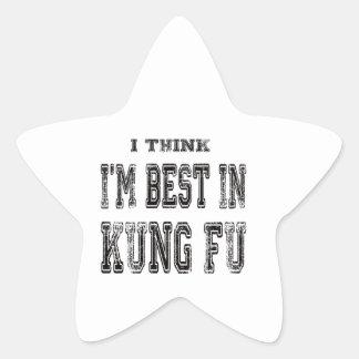 Pienso que soy el mejor de Kung-fu Pegatina Forma De Estrella Personalizada