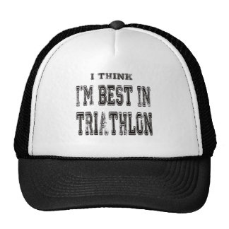 Pienso que soy el mejor de Triathlon Gorras De Camionero