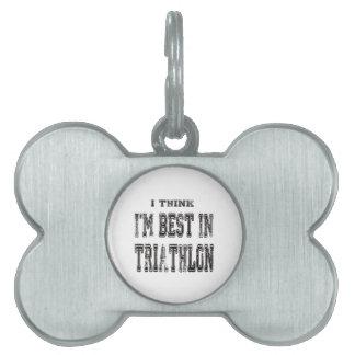 Pienso que soy el mejor de Triathlon Placa De Mascota
