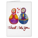 Pienso que tengo gusto de usted tarjeta pequeña