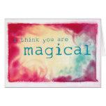 pienso que usted es mágico tarjeton