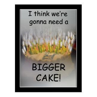 ¡Pienso que vamos a necesitar una torta de cumplea Postal