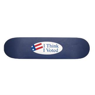 Pienso que voté tabla de patinar