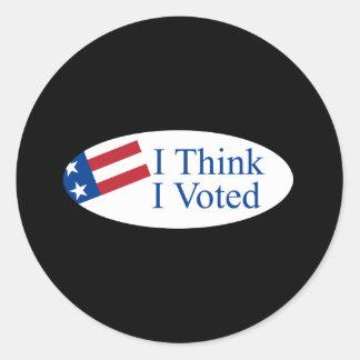Pienso que voté pegatina redonda