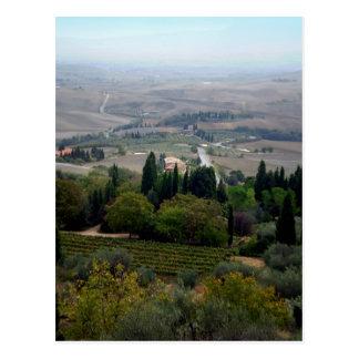 Pienza Landscape Postcard