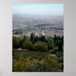 Pienza Landscape Poster