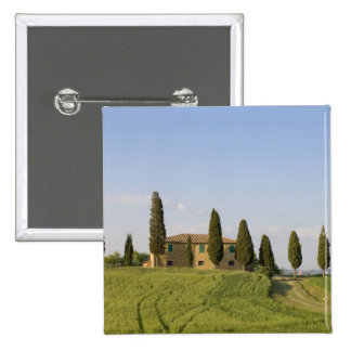 Pienza, Val d'Orcia, Siena province, Tuscany, 2 Inch Square Button