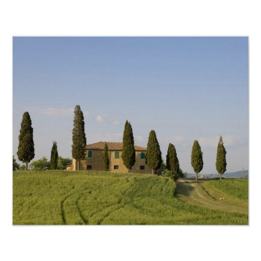 Pienza, Val d'Orcia, Siena province, Tuscany, Poster