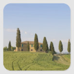Pienza, Val d'Orcia, Siena province, Tuscany, Square Sticker