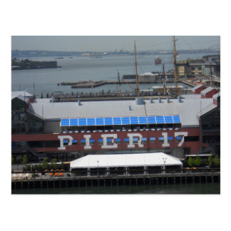 Pier 17 South Street Seaport Manhattan Postcard NY