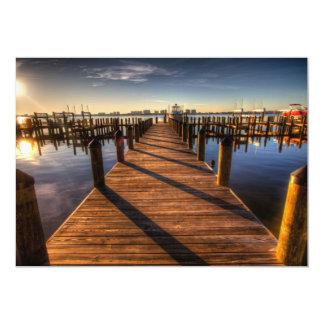 pier-349672 PHOTOGRAPHY SCENERY pier, harbor, walk 5x7 Paper Invitation Card