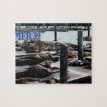 Pier 39 Sea Lions in San Francisco Jigsaw Puzzle