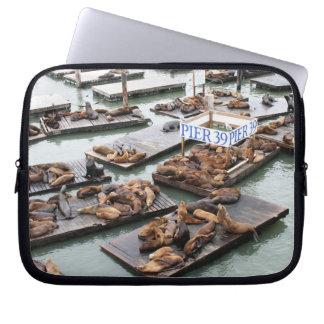 Pier 39 Sea Lions in San Francisco Laptop Sleeve