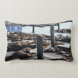 Pier 39 Sea Lions in San Francisco Lumbar Pillow