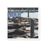 Pier 39 Sea Lions in San Francisco Paper Napkin