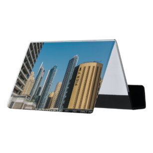 Dubai business card holders cases zazzle pier 7 dubai marina desk business card holder reheart Gallery