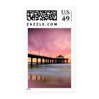 Pier - add your own text postage stamp
