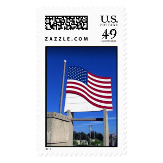 Pier American Flag USA Forever Postage Stamp