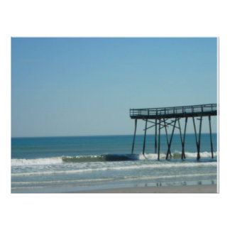Pier and Beach Print