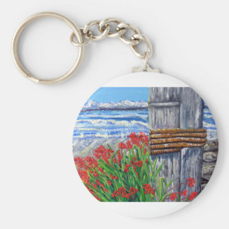 Pier and Flowers Keychain
