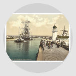 Pier and harbor, Littlehampton, England rare Photo Sticker
