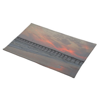 Pier and Sunset - Oak Island, NC Placemat
