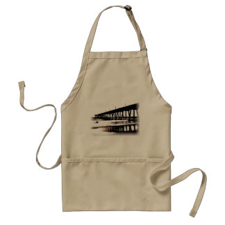 Pier and Surf in (mostly) Black and White Adult Apron