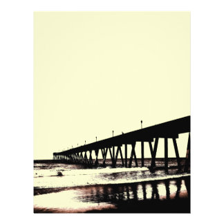 Pier and Surf in (mostly) Black and White Flyer