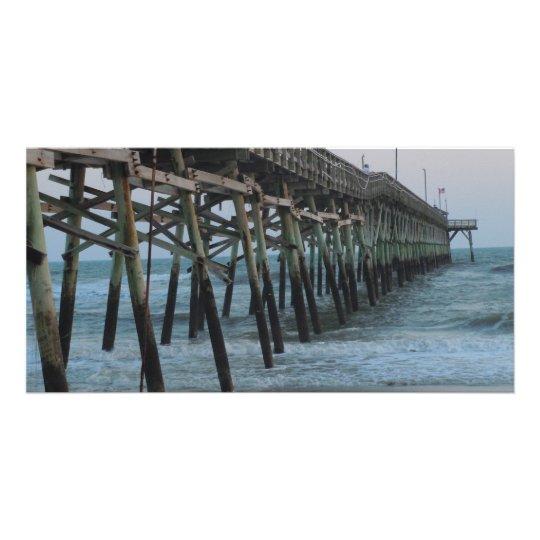 Pier and Waves = Oak Island, NC Card