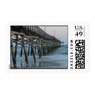 Pier and Waves - Oak Island, NC Postage