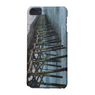 Pier and Waves - Oak Island, North Carolina iPod Touch (5th Generation) Case