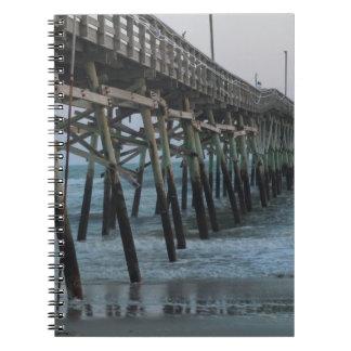 Pier and Waves - Oak Island, North Carolina Notebook