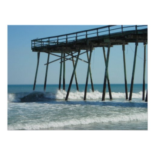 Pier and Waves Posters