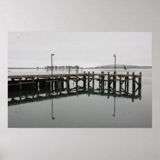 Pier at Bodega Bay,CA Poster