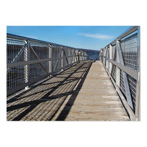 Pier at Cayuga Lake ATC Large Business Card