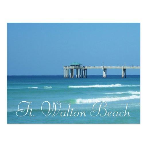 Pier at fort walton beach florida postcard zazzle for Fort walton beach fishing
