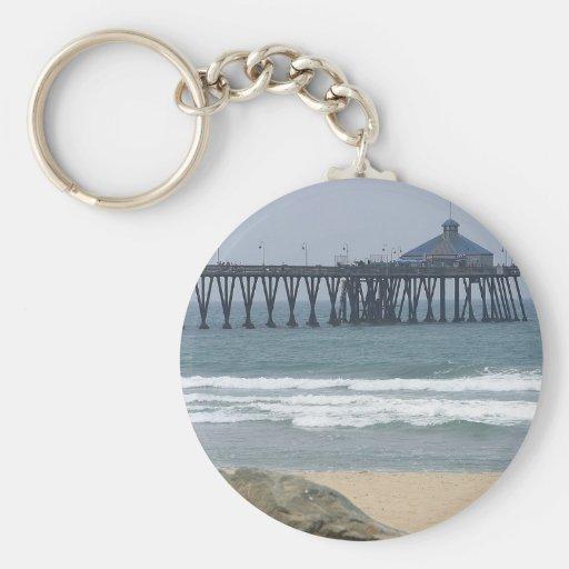 Pier At Imperial Beach Key Chain