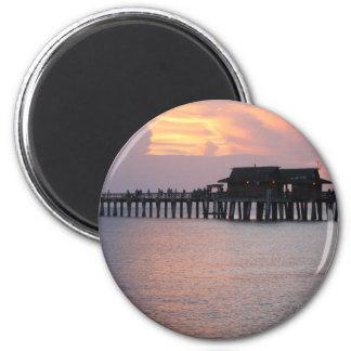 pier at Naples Florida Refrigerator Magnet